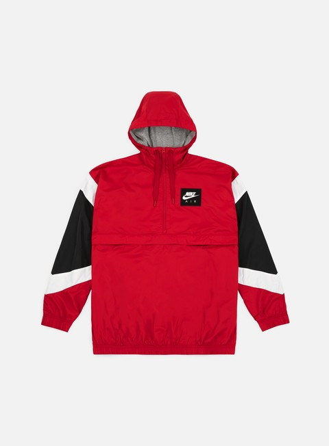 giacche nike nsw air hd woven jacket gym red white