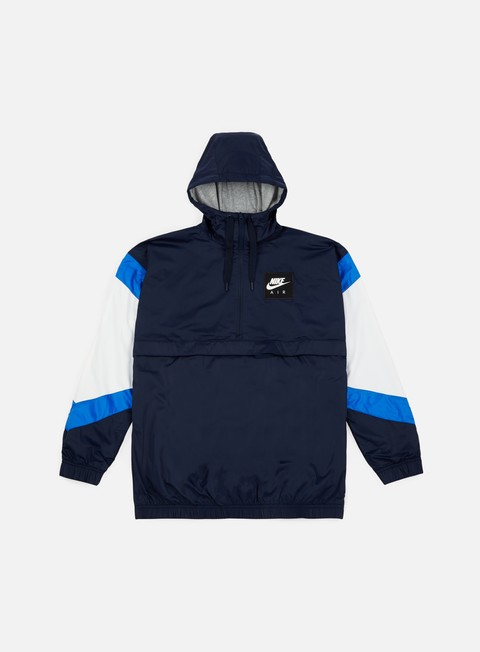 giacche nike nsw air hd woven jacket obsidian signal blue