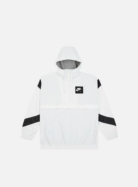 giacche nike nsw air hd woven jacket white black