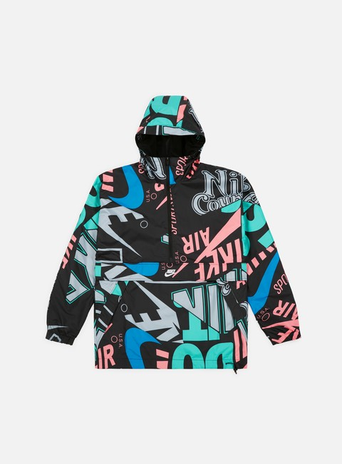 giacche nike nsw aop hd jacket multicolor