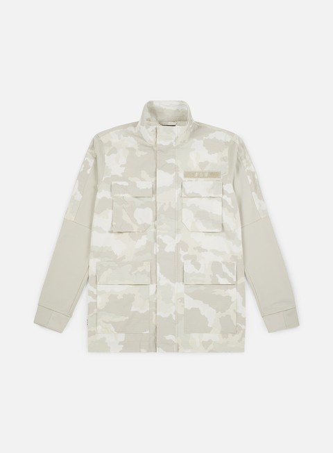 giacche nike nsw camo jacket summit white light bone white