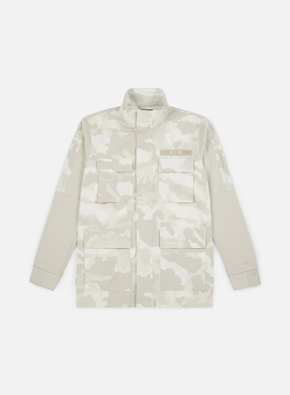 986ae2ffc81 NIKE - NSW Camo Jacket, Summit White/Light Bone/White €