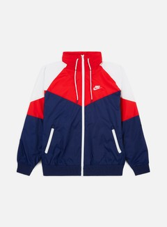 Nike - NSW HD HE Windrunner, Midnight Navy/University Red/Summit White/White