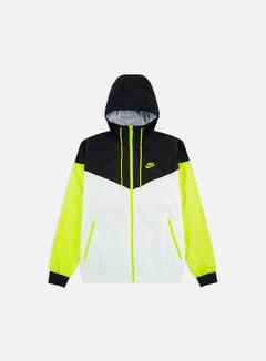 Nike - NSW HD Windrunner, White/Black/Volt/Volt