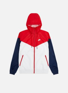 Nike - NSW HD Windrunner, White/University Red/Midnight Navy/White