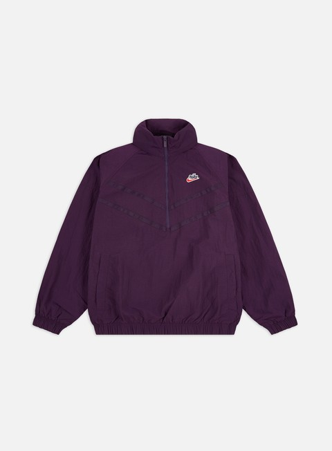 Nike NSW Heritage Half Zip Hooded Windrunner