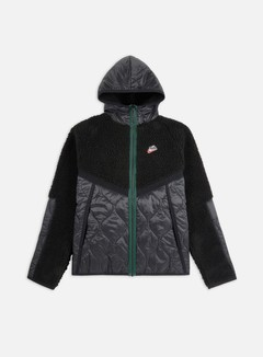 Nike - NSW Heritage Insulated Winter Hooded Jacket, Black/Black/Pro Green
