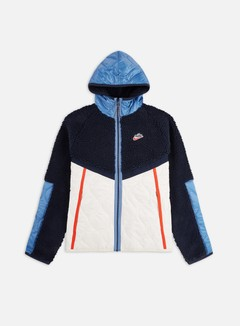 Nike - NSW Heritage Insulated Winter Hooded Jacket, Obsidian/Light Orewood Brown/Chile Red