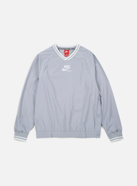 giacche nike nsw pullover archive jacket wolf grey summit white