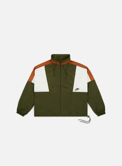 Nike - NSW Re-Issue Woven Jacket, Olive Canvas/Dark Russet/Sail/Olive Canvas
