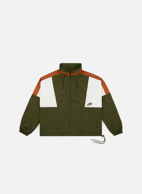 giacche nike nsw re issue woven jacket olive canvas dark russet sail olive canvas