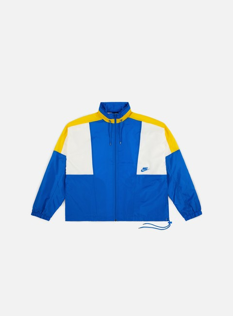 giacche nike nsw re issue woven jacket signal blue amarillo sail signal blue