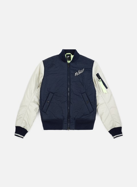 giacche nike nsw synthetic fill bomber jacket obsidian light bone light bone