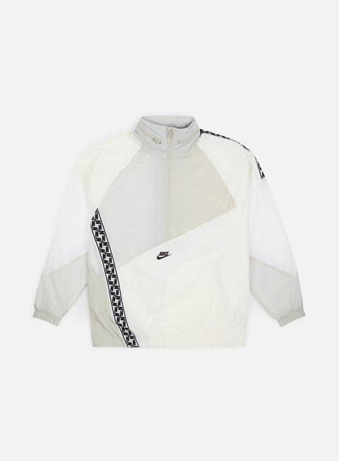 giacche nike nsw taped woven anorak jacket sail black
