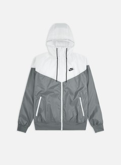 Nike - NSW Woven LND Hooded Windrunner, Smoke Grey/White/Smoke Grey/Black