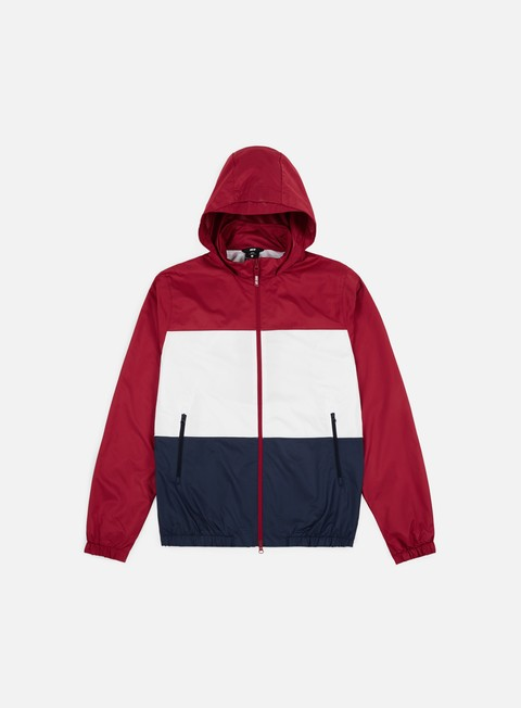 giacche nike sb dry hooded jacket red crush white obsidian