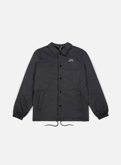 giacche nike sb shield coaches jacket black cool grey