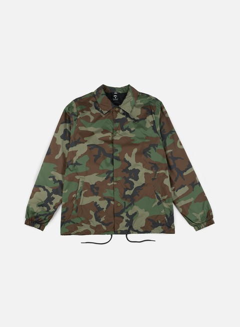giacche nike sb shield coaches jacket medium olive black