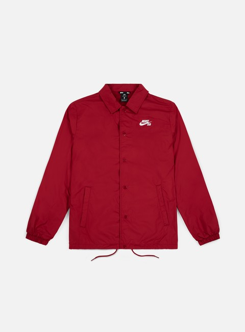 giacche nike sb shield coaches jacket red crush white