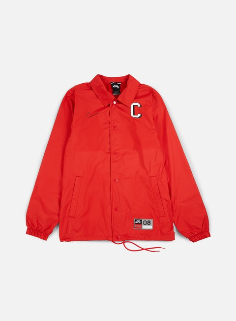 giacche nike sb shield coaches jacket university red black