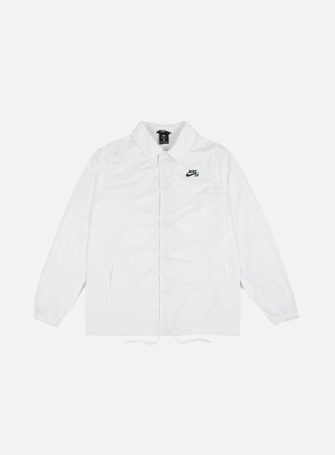 giacche nike sb shield coaches jacket white anthracite