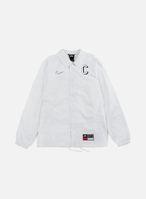 giacche nike sb shield coaches jacket white black