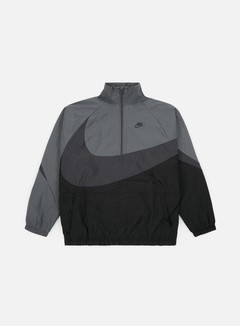 Nike - Swoosh Woven Half Zip Jacket, Black/Anthracite