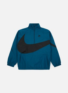 Nike - Swoosh Woven Half Zip Jacket, Blue Force/Black