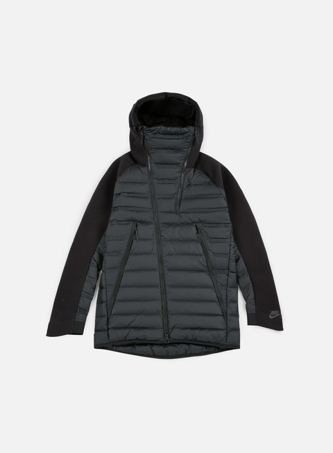 giacche nike tech fleece aeroloft jacket black black