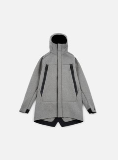Nike - Tech Fleece Parka Jacket 3mm, Carbon Heather/Black 1