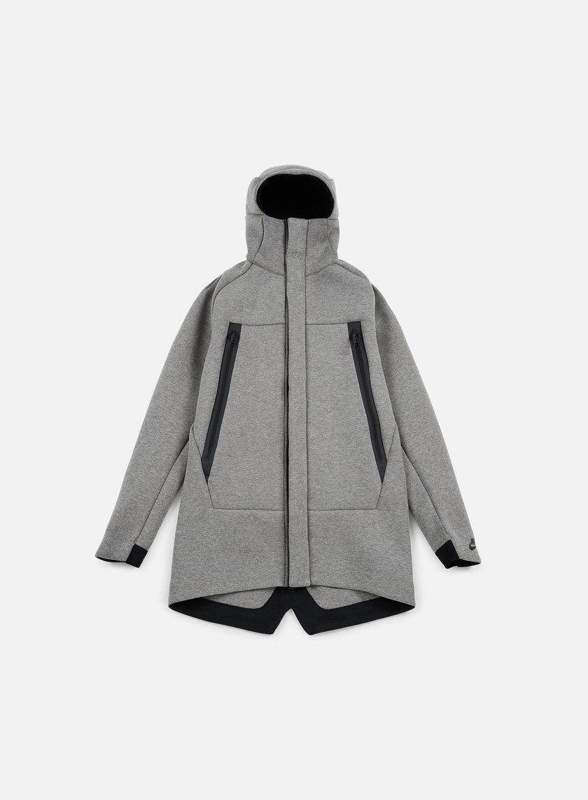 Nike - Tech Fleece Parka Jacket 3mm, Carbon Heather/Black