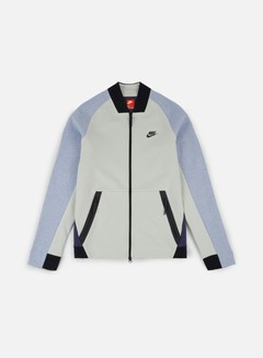 Nike - Tech Fleece Varsity Jacket, Light Bone/Black