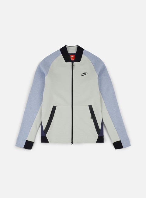 giacche nike tech fleece varsity jacket light bone black