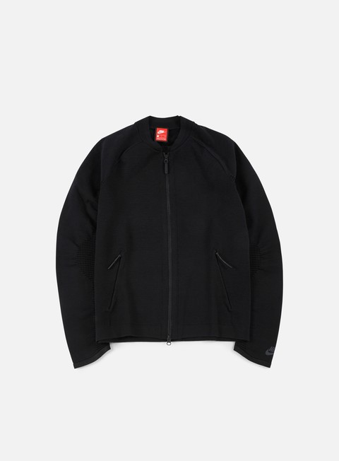 giacche nike tech knit jacket black