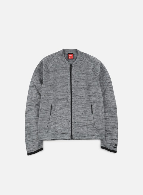 giacche nike tech knit jacket carbon heather black