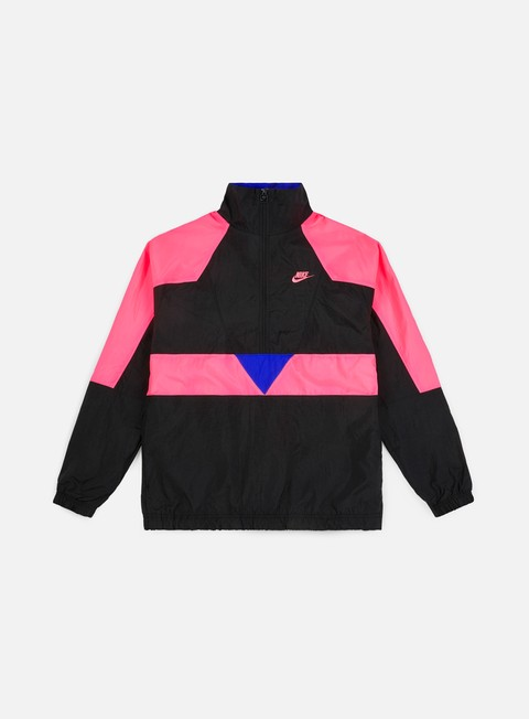 giacche nike vw woven jacket black hyper pink hyper royal