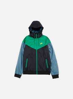 Nike - Windrunner, Black/Green/Electro Lime