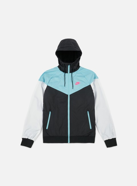 giacche nike windrunner black racing pink