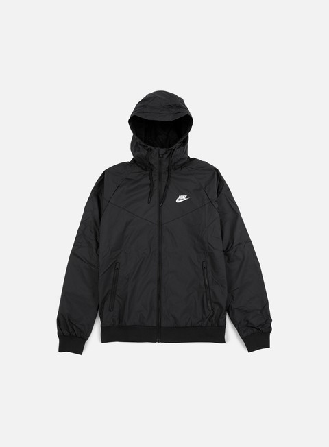 giacche nike windrunner black white