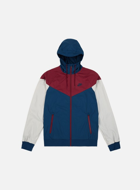 giacche nike windrunner blue force team red light bone blue force