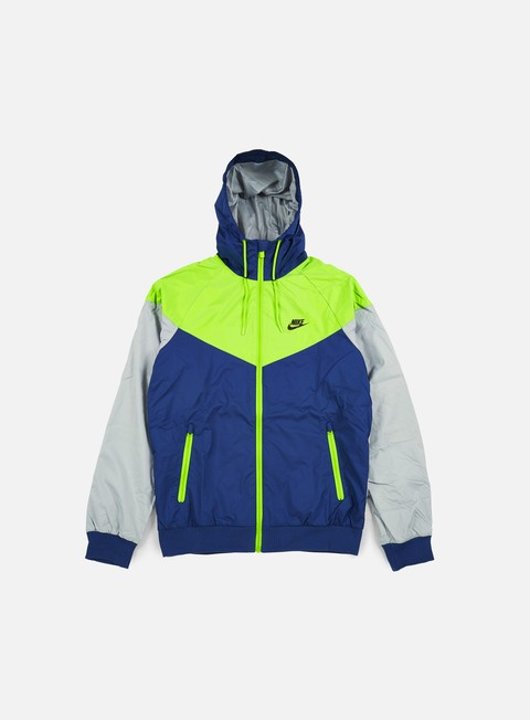 giacche nike windrunner coastal blue black