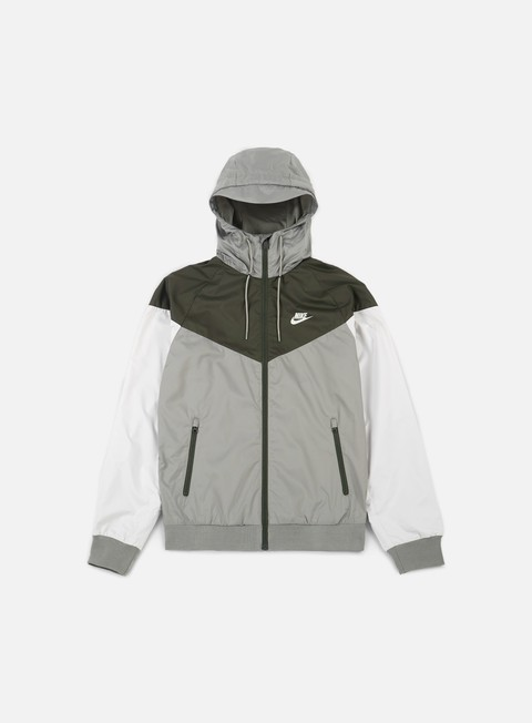 giacche nike windrunner dark stucco light bone