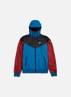 Nike - Windrunner, Green Abyss/Team Red/Hyper Jade