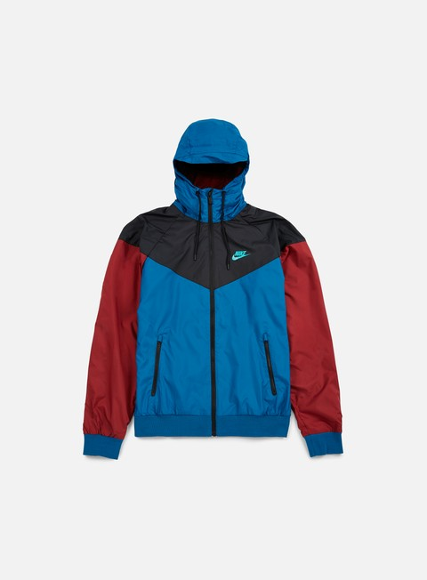 giacche nike windrunner green abyss team red hyper jade