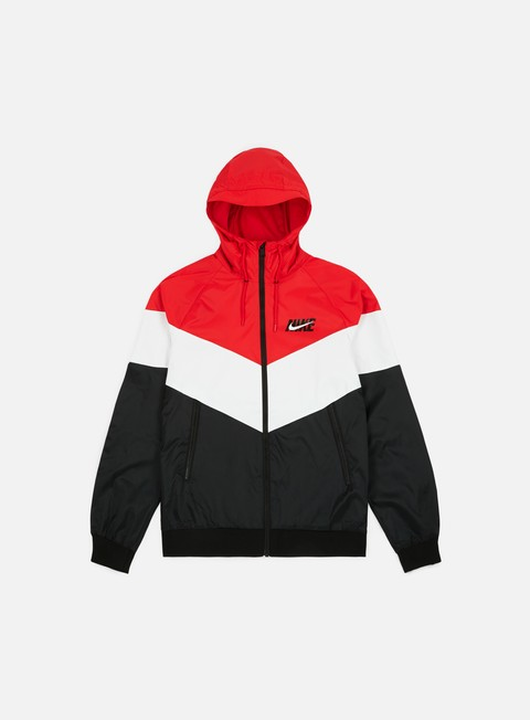 giacche nike windrunner hd gx jacket university red summit white black