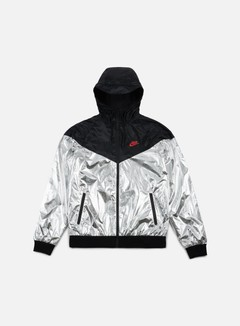 Nike - Windrunner, Metallic Silver/University Red/Black