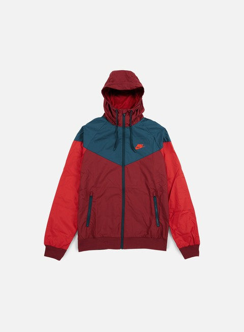 giacche nike windrunner team red bright crimson