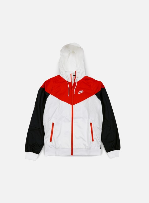 giacche nike windrunner white light crimson