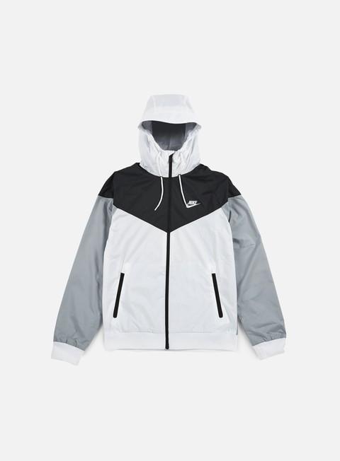 giacche nike windrunner white white