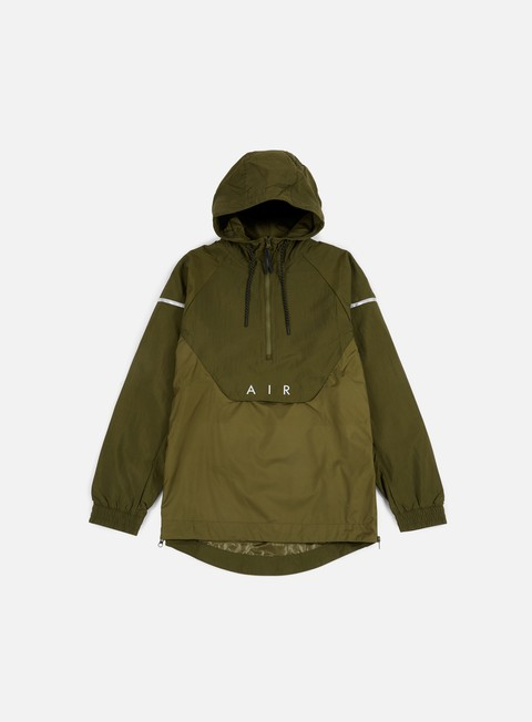giacche nike woven anorak air jacket legion green